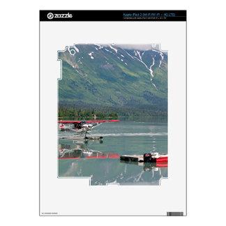 Float plane, Trail Lake, Alaska iPad 3 Skin
