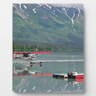 Float plane, Trail Lake, Alaska Plaque
