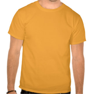 float robot in gold t-shirts