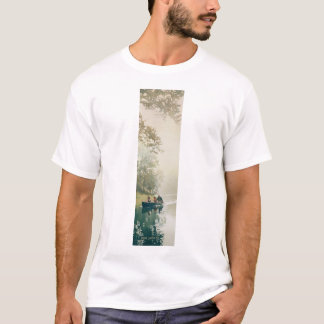 """Float Trip"" River Scene Watercolor T-Shirt"