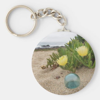 Float with yellow ice plant keychain