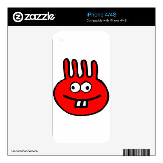 Floatie Monster red iPhone 4 Decal