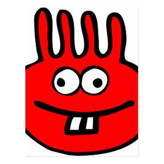 Floatie Monster red Postcard