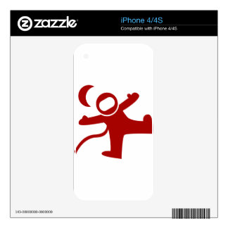 Floating Astronaut Icon iPhone 4S Decals