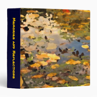 Floating Autumn Leaves Abstract 3 Ring Binder