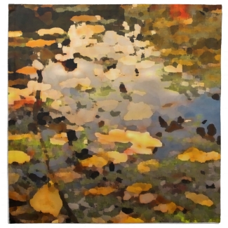 Floating Autumn Leaves Abstract