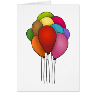 Floating Balloons Card