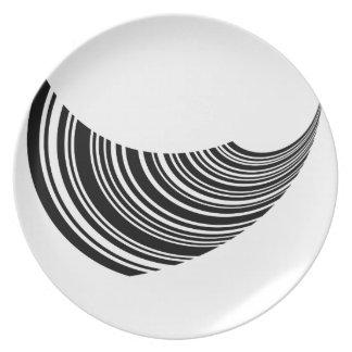 Floating bar code melamine plate