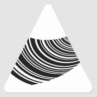 Floating bar code triangle sticker
