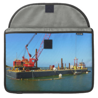 Floating Barge with crane colorful MacBook Pro Sleeve