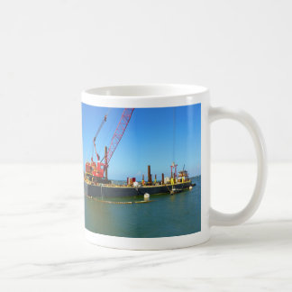 Floating Barge with crane colorful Mugs