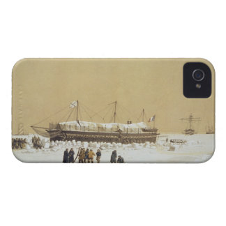 Floating battery La Tonnante in the ice before Kil iPhone 4 Case-Mate Case