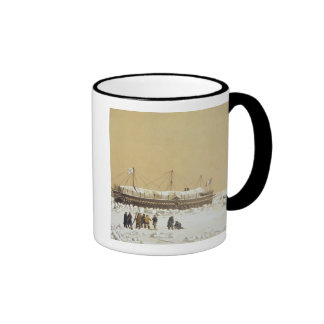Floating battery La Tonnante in the ice before Kil Ringer Coffee Mug