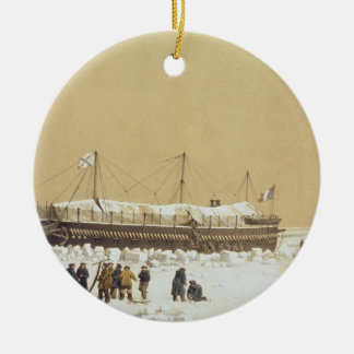 Floating battery La Tonnante in the ice before Kil Ornaments
