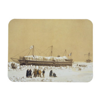 Floating battery La Tonnante in the ice before Kil Rectangular Photo Magnet