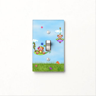 Floating Bears Pixel Art Light Switch Cover
