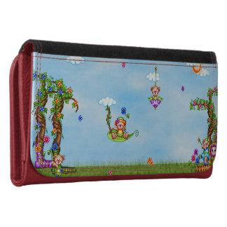 Floating Bears Pixel Art Women's Wallet