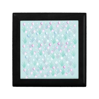Floating Blocks Pastel Abstract design Trinket Box