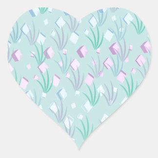 Floating Blocks Pastel Abstract design Heart Sticker