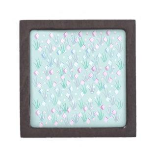 Floating Blocks Pastel Abstract design Premium Jewelry Box