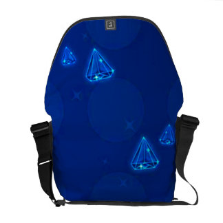 Floating Blue Diamonds Messenger Bag