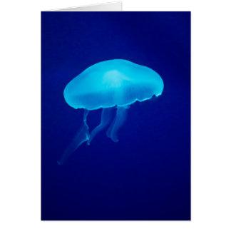 Floating Blue Jellyfish Card