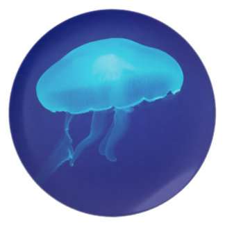 Floating Blue Jellyfish Plate