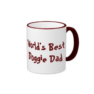 Floating-Bosco-Head, World's Best Doggie Dad Ringer Coffee Mug