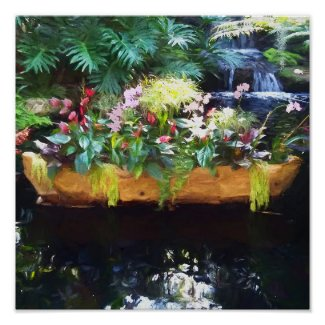 Floating Botanicals Poster