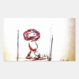Floating Brain Bio Rectangular Sticker