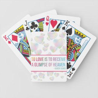 Floating Bubble Hearts Poker Deck