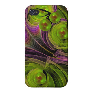Floating bubbles, abstract fractal iPhone 4 cases