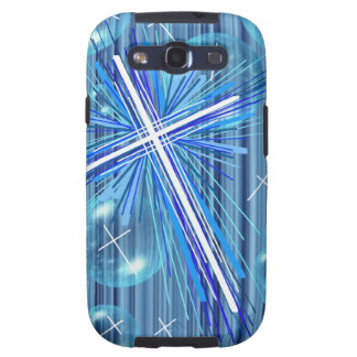Floating Bubbles and the Cross. Galaxy S3 Case