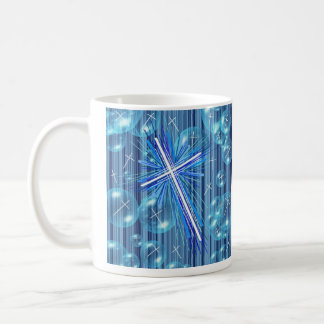 Floating Bubbles and the Cross. Coffee Mug