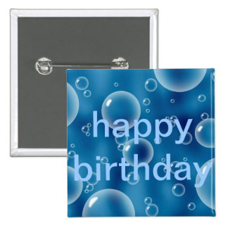 Floating Bubbles 2 Inch Square Button