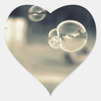 Floating Bubbles Heart Sticker