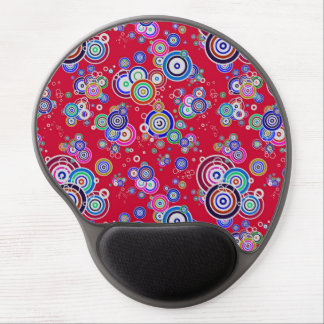 Floating Bullseyes to Infinity 2 RED Gel Mouse Mat
