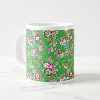 Floating Bullseyes to Infinity 3 GREEN Giant Coffee Mug