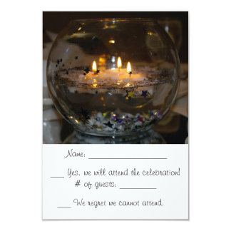 Floating Candle RSVP cards Invites