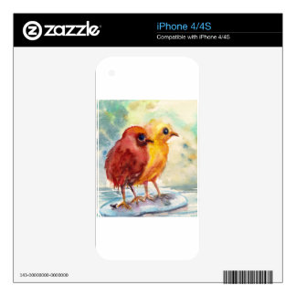 Floating Chicks iPhone 4 Skin