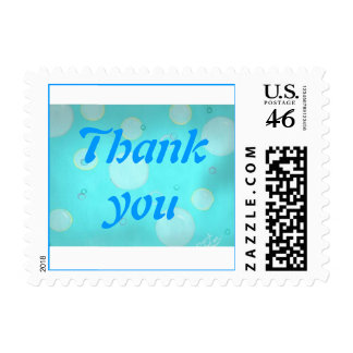 Floating circles and bubbles Thank you stamps
