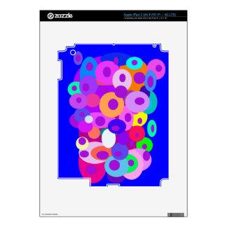 Floating Circles Blue iPad 3 Skins