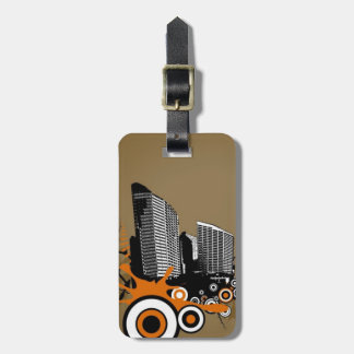 Floating city with plants bag tag