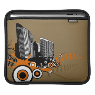 Floating city with plants iPad sleeve