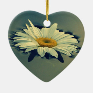 Floating Daisy Ceramic Ornament