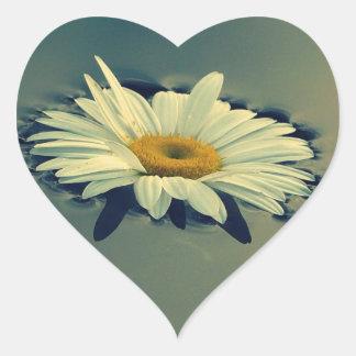 Floating Daisy Heart Sticker
