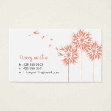 Professional Business Floating Dandelion Calling Card