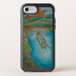 Floating Down The River Watercolor Speck iPhone Case