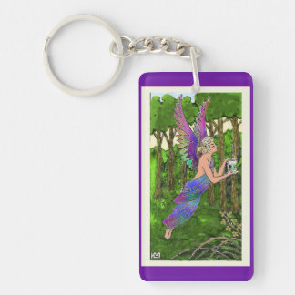 Floating Ethereal Vintage Angel Acrylic Key Chain