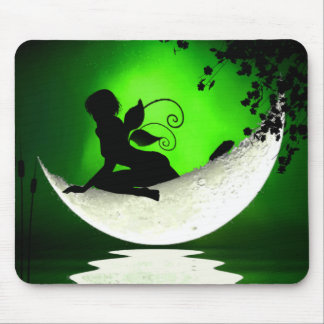 Floating fairy moon mousepad